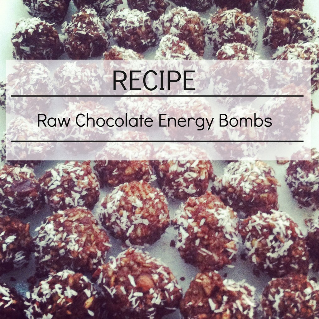 Raw Chocolate Energy Bombs